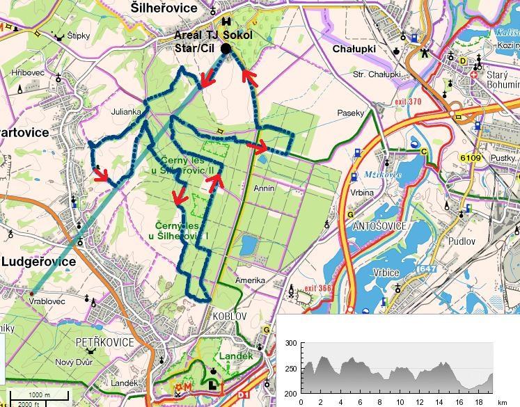 Mapa 20 km